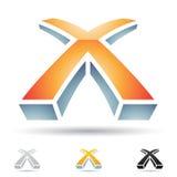 Icono abstracto para la letra X Fotografía de archivo