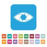 Icono abstracto plano conceptual del vector del ojo del obturador Fotografía de archivo libre de regalías