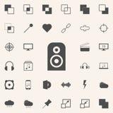 icono acústico de la columna sistema universal de los iconos del web para el web y el móvil stock de ilustración
