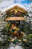 Icono, adornado con las ramas del abeto Foto de archivo
