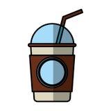 icono aislado bebida de cristal del café Imagen de archivo