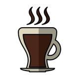 Icono aislado bebida de la taza de café Imagen de archivo