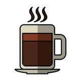 Icono aislado bebida de la taza de café Foto de archivo