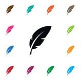Icono aislado de la semilla Plume Vector Element Can Be utilizó para la semilla, pluma, Pen Design Concept Foto de archivo libre de regalías