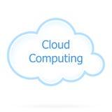 Icono computacional de la nube stock de ilustración