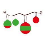 Icono aislado decoración de las bolas de la Navidad Fotos de archivo libres de regalías