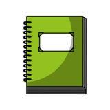 Icono aislado del cuaderno Foto de archivo libre de regalías