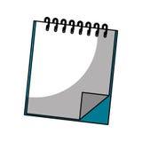 Icono aislado del cuaderno Imagen de archivo