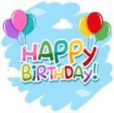 Icono aislado del feliz cumpleaños ilustración del vector
