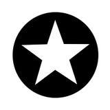 Icono aislado emblema de la estrella Imagen de archivo