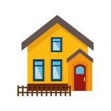 icono aislado exterior lindo de la casa Imagen de archivo