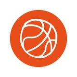 Icono aislado globo del baloncesto Fotografía de archivo