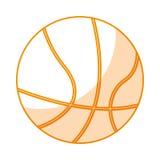 Icono aislado globo del baloncesto stock de ilustración