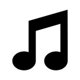Icono aislado nota de la música Fotos de archivo