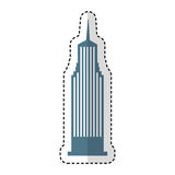 Icono aislado Nueva York de Cloudscraper Imagen de archivo