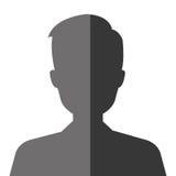 Icono aislado perfil ejecutivo del hombre de negocios Imagen de archivo
