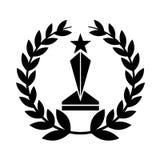 icono aislado premio del trofeo Imágenes de archivo libres de regalías