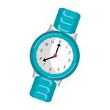 Icono aislado reloj del mitón stock de ilustración