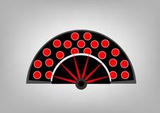 Icono aislado, símbolo Abanico de la fan del flamenco del país de España Imágenes de archivo libres de regalías