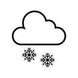 Icono aislado tiempo de la tormenta de la nieve libre illustration