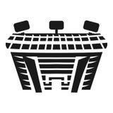 Icono al aire libre de la vista lateral del estadio, estilo simple ilustración del vector