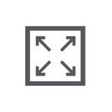 Icono alto o bajo de la imagen del res - para UI o UX ilustración del vector