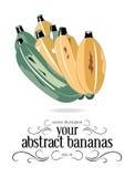 Icono amarillo de los plátanos Imagen de archivo