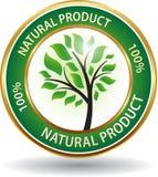 Icono amistoso del sitio web del eco del producto natural Foto de archivo libre de regalías