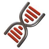 Icono anaranjado y de plata de la DNA Fotografía de archivo libre de regalías