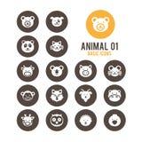 Icono animal de la cara Ilustración del vector Fotografía de archivo libre de regalías