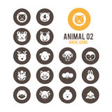Icono animal de la cara Ilustración del vector Fotografía de archivo