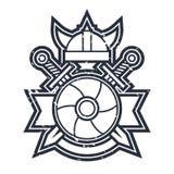 Icono antiguo de las armas stock de ilustración