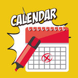 Icono app del calendario Fotos de archivo