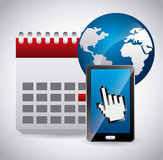 Icono app del calendario Imágenes de archivo libres de regalías