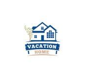 Icono arquitectónico aislado de la casa del color azul para el emblema del prospecto del negocio de las propiedades inmobiliarias libre illustration