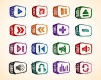 Icono audio Imagen de archivo libre de regalías