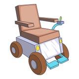 Icono automotor de la silla de ruedas, estilo de la historieta ilustración del vector