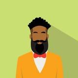 Icono Avatar masculino étnico afroamericano del perfil del hombre de negocios Fotos de archivo