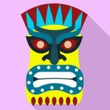 Icono azteca del ?dolo, estilo plano stock de ilustración
