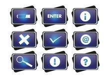 Icono azul Fotos de archivo