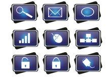 Icono azul Imagen de archivo