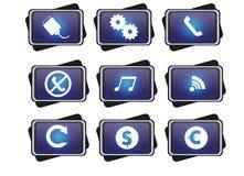 Icono azul Imagenes de archivo