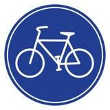 Icono azul de la bici Foto de archivo libre de regalías