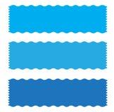Icono azul de la cinta de la bandera en el fondo blanco Fotografía de archivo