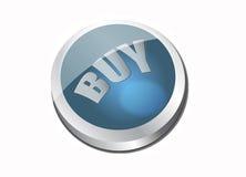 Icono azul de la compra Foto de archivo libre de regalías