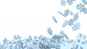Icono azul de muchos hashtags en el fondo blanco