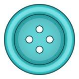 Icono azul del botón del paño, estilo de la historieta libre illustration