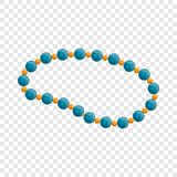 Icono azul del collar de la perla, estilo de la historieta libre illustration