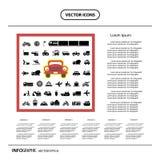 Icono básico para el transporte Foto de archivo libre de regalías