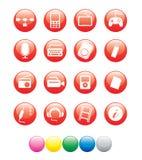 Icono ball03 rojo del comercio Imagen de archivo